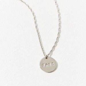 Urban Outfitters Etched Babe Pendant Necklace